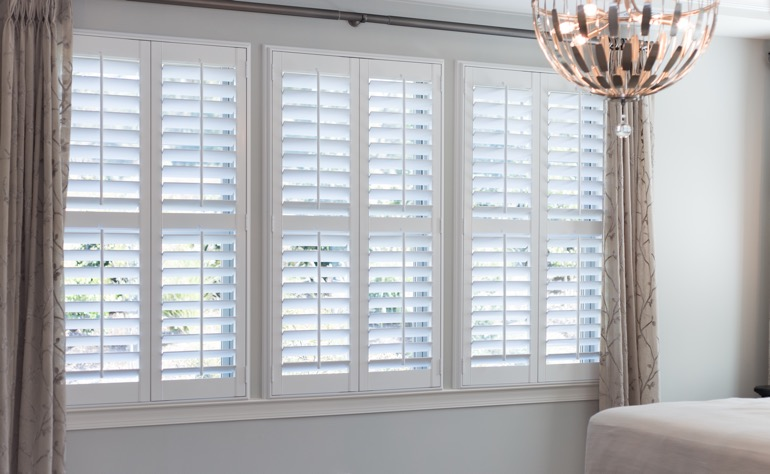 Charlotte plantation shutters guest room