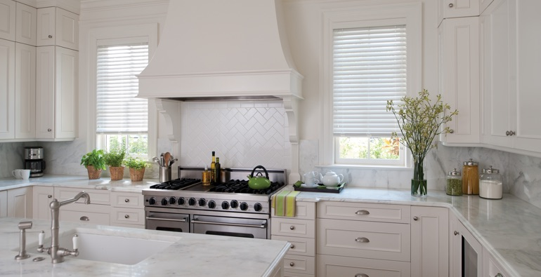 Charlotte white faux wood blinds