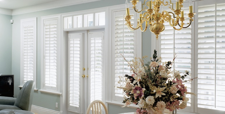 Charlotte sunroom polywood shutters