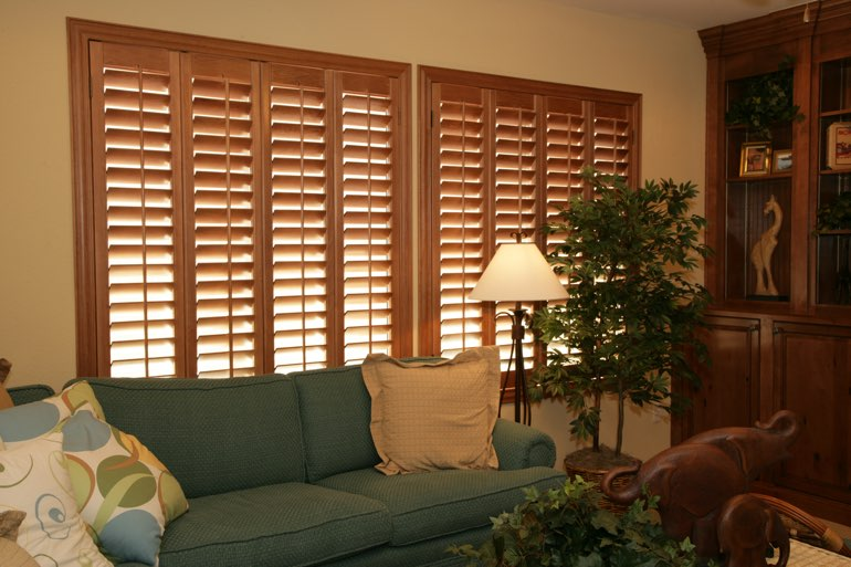 Ovation Shutters In A Charlotte Living Room.